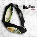 【HOLDTUBE】運動腰帶-雙口袋-夜黑螢綠