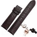 19mm 20mm 高級手錶替用真皮手錶錶帶+自選折疊錶扣 適用於浪琴勞力士帝陀替代替用 仿鱷魚紋皮錶帶 錶帶