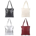 26517e91e0d2 Toprate CHIC SOLID COLOR PU LEATHER DOUBLE POCKET MULTIFUNCTIONAL STRAP  WOMEN BUCKET BAG (SILVER)