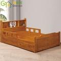 【綠家居】維特 鄉村3.5尺單人床台組合(二抽屜+不含床墊)