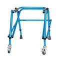 【夢夢】雅德兒童助行器 矮小老人殘疾人助步器行走輔助器鋁合金可調高度