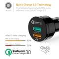 原廠 Aukey QC 3.0 車充 CC-T7 34.5W Quick Charge USB 雙孔 充電器 旅充 車用