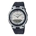 CASIO 10年電力、指針+數字雙顯 錶盤以世界地圖作為設計 AW-80 AW-80D 學生錶