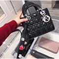 Dior 迪奧黛妃包 lady Dior 真皮小方包手提包