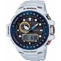 นาฬิกาข้อมือคาสิโอโลก 6 วิทยุวิทยุที่เข้ากันได้พลังงานแสงอาทิตย์ G-SHOCK GULFMASTER GWN-1000E-8AJF ชาย-นานาชาติ