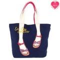 [mis zapatos] Ethnic Sandal Tote /Shoulder bag Thailand mountain ethnic fabric Sandal pattern