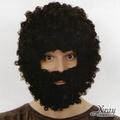 X射線【W030056】假髮-爆炸頭(黑+鬍子),萬聖節/尾牙/PARTY變裝/化妝舞會/表演