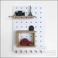 牆壁裝飾收納洞洞板 木質牆壁層架 Z152-W *文昌家具*