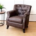 Bernice-查理曼美式復古風仿舊皮沙發單人座椅(二入組合)