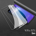 VIVO Y71 Tempered Glass Screen Protector full cover film 2.5D Glass For vivo y71 screen cover((2 Pieces))