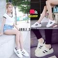 Idoli Style รองเท้าผ้าใบเสริมส้น รองเท้าผ้าใบแฟชั่น รองเท้าผ้าใบเกาหลี รองเท้าผู้หญิง