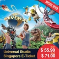 Universal Studio Singapore Ticket USS OPEN DATED admission E-Ticket [ Ticket will be get fast ]