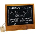 MyGift French Country Brown Wood Framed Wall Mounted Chalkboard / Blackboard Sign with Hanging Erase