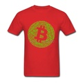 CRYPTO Creation Bitcoin Cash Revolution Hipster T-Shirts Red