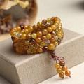 天然水晶龍鱗石龍紋瑪瑙108顆佛珠手鍊