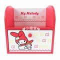 〔小禮堂〕美樂蒂 單抽屜收納盒《小.紅.單抽.花朵.玩偶》桌面迷你型