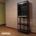 玻璃收藏櫃收納架 60x30x180cm 【空間特工】小資型模型櫃 公仔櫃 角鋼置物架 MIT台灣製 DOB2165