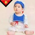 寶寶造型服~小海軍連身衣+帽╭。☆║團拍║攝影║嬰兒寫真║☆。
