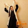 【iSFun】兔耳愛麗絲*羊絨連帽式圍巾/二色可選