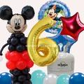 氦氣桶 安全氦氣 -米奇生日派對+氦氣瓶+50顆彩球