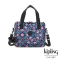【KIPLING】熱帶萬花筒印花側翻蓋手提側背包-ZEVA