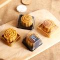 【F003】烘焙包裝 黑色50克月餅塑膠盒(含蓋)/月餅包裝吸塑盒/蛋黃酥/綠豆碰/塑料透明月餅盒/吸塑盒