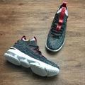 Nike LeBron 15 Low XV LBJ 編織 高筒 透氣 籃球鞋 灰紅