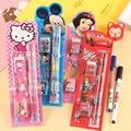 糖衣子輕鬆購【DZ0034】兒童卡通kitty冰雪奇緣文具禮盒組5件套兒童節小朋友禮物