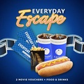 [Cathay Cineplexes] EVERYDAY Movie Package (2 Weekday Movie Vouchers + Mini Popcorn & Chicken Hotdog + 2 22oz Soft Drink) Cinema/Promotion/Bundle Deal/Movie Ticket Voucher/F&B Voucher/Food Voucher/Movie Combo/Food Combo/Drinks Combo/Gift Voucher