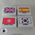 Country Flag Eraser / Singapore Delivery /Old School Game / Nostalgic - 4 Pcs / Pack