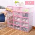 (女)組合抽屜式透明鞋盒 (單入不挑色) X734X9《女款》