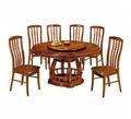 蓮花柚木色餐桌椅組 / H&D