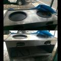 二手餐飲設備-白鐵雙口煎台(含兩口煎板)