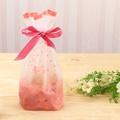 εїз 5入【現貨】15*17+6公分 磨砂櫻花束口袋 立體式包裝袋收納袋  禮物包裝袋糖果餅乾包裝袋新年福袋禮品福袋