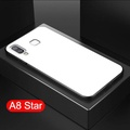 Galaxy A8 Star Case Full Protection Clear Tempered Glass Case for Samsung Galaxy A8 Star Back Cover