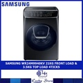 SAMSUNG WR24M9940KV 21KG FRONT LOAD & 3.5KG TOP LOAD WASHER 4 TICKS