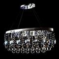 埃及奧地利不鏽鋼楓葉圓球彩珠水晶燈E14-5燈+RGB藍光LED-28燈附遙控器(琥珀+紫色)TA95212