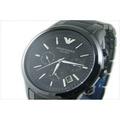 【EMPORIO ARMANI】AR1451【現貨/代購】  原廠公司貨 義大利精品 三眼系列 黑陶瓷錶帶