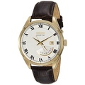 Seiko Kinetic SRN074 White Dial Brown Leather Band Mens Watch by Seiko Watches - intl