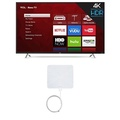 TCL 55S405 55-Inch 4K Ultra HD Roku Smart LED TV (2017 Model) with Winegard FlatWave FL-5000 Digital Indoor HDTV Antenna
