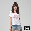 Lee 樂高建築垂水Logo短袖圓領TEE-白