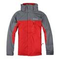 美國百分百【全新真品】Columbia 外套 夾克 連帽 哥倫比亞 登山 紅色 灰色 兩件式 防水 男 S號 E516