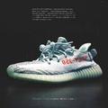 ADIDAS YEEZY BOOST 350 V2 Kanye West 藍斑馬 冰藍 神鞋 B37571 IMPACT