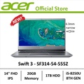 Acer Swift 3 SF314-54-555Z Thin & Light Laptop - 8th Gen Core i5 with Intel Optane Memory