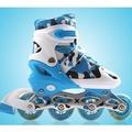 直排輪-溜冰鞋兒童旱冰鞋輪滑鞋直排輪成人滑冰鞋男女可調閃光TWN170226