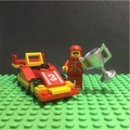LEGO樂高經典絕版CITY RACER賽車冠軍車手人偶組