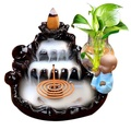 倒流香爐創意陶瓷煙觀賞塔香沈香點香座家用室內擺件檀香線香熏爐