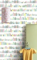 INKE / Huisjes Pastel IK2003 【訂貨單位:4張壁畫/1套】兒童房壁紙 可愛牆紙 房屋 小房子