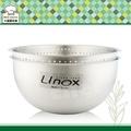 LINOX複合式蔬果盆不鏽鋼洗米盆蔬菜水果瀝水器打蛋盆-大廚師百貨