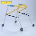 免運速出特惠兒童後拉式鋁合金助行器單向防後退兒童助步器康復學步車帶輪